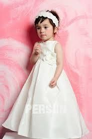 robe mariage enfants robe mariage enfant blanche en taffetas ornée dune fleur persun fr