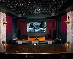 Home Theater Rug Moravian Star Light Home Theater Modern With Area Rug Plastic