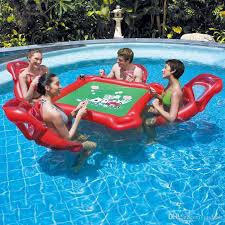 floating table for pool 2018 waterpark inflatable mahjong poker table set floating row