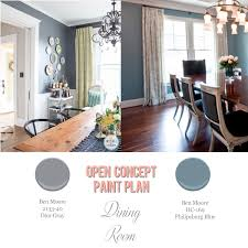 foolproof paint selections for an open concept floor plan dining
