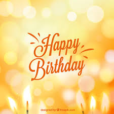 birthday card in bokeh style vector free download