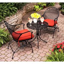 Wicker Bistro Table And Chairs Wonderful Crossman Outdoor Bistro Ro Patio Bistro Table Set