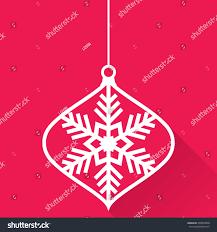 christmas ornaments ball made snowflakes set stock vector