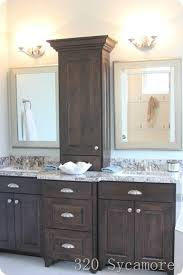 Bathroom Vanity With Shelves Eye Catching Brilliant Bathroom Vanity Shelves Best Ideas About On