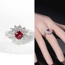 ruby bands rings images Rom round red ruby ring luxury princess simulated diamond ring jpg