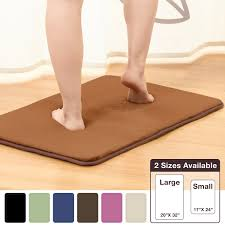 Bathroom Rugs And Mats Amazon Com Memory Foam Bathrug Chocolate Brown Bath Mat And