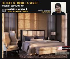 sketchup texture free sketchup model modern bedroom 31 u0026 vray visopt