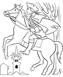 paul revere s ride book paul revere with coloring page kids coloring pages