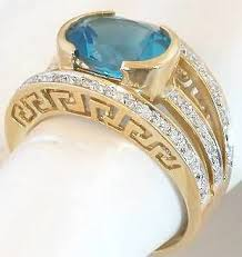 topaz rings prices images Bezel set blue topaz ring with greek key design gr 6032 jpg