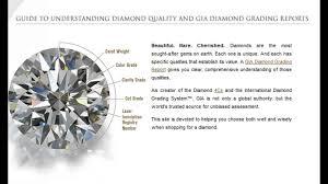 diamond clarity chart and color gia diamond grading guid youtube