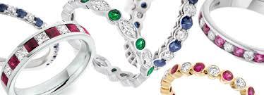 coloured stones rings images Coloured stone eternity rings diamond aurora jpg