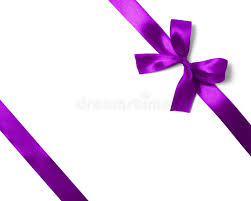 purple satin ribbon shiny purple satin ribbon on white background stock photo image