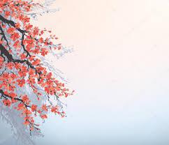 Peinture Cerisier Japonais by Background Dans Un Style Japonais Branches De Floraison Des