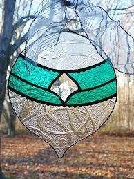 large stained glass teal ornament jo s booth