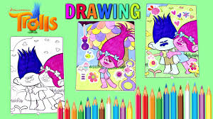 dreamworks trolls movie coloring pages compilation video hugs and