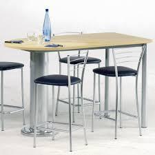 plan de table cuisine table haute avec chaise mobilier maison tabouret pour snack