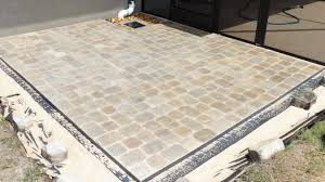Patio Paver Installation Instructions by Block Patio Using Brock Paver Base Youtube