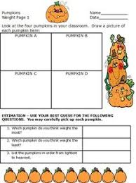 pumpkin math worksheets measuring pumpkins 4th grade thanksgiving