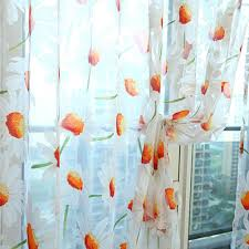 Jml Door Curtain by Amazon Com Sundlight Lansfield Print Daisy Curtains In Fresh