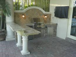 Floating Bar Table Custom Outdoor Kitchen With Floating Bar And Backsplash U2014 Gas