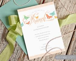 brunch invitations printable butterfly brunch invitation the elli