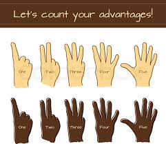 set of isolated sketches of caucasian and afro american hands with