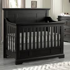 Black Baby Bed Oxford Baby Dallas 4 In 1 Convertible Crib Slate Toys