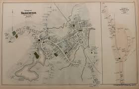 Paper Town Map Village Of Sandwich Pp 20 21 Town And Village Maps Atlas Of