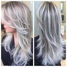 blonde high and lowlights hairstyles 25 beste ideeën over grijs haar highlights op pinterest dikke