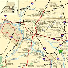 maryland byways map journey through hallowed ground byway northern section