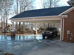 Attached Carport Ideas Carport And Screen Porch Additions White Addition Before White