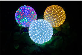 outdoor christmas light balls china supplier unique outdoor christmas light flower ball for