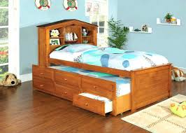 bookcase twin captains bed with storage and headboard trendwood