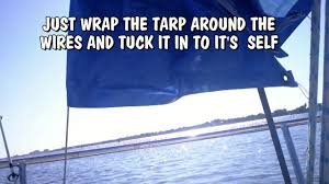 Sailboat Awning Sunshade Home Made Sun Shade For Sail Boat Quick And Easy Youtube