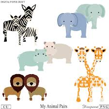 animal clipart elephant clipart hippo clipart giraffe
