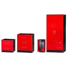 great red and black gloss bedroom furniture 77 in home decorating