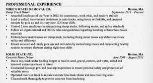 Sample Resume Of Driver by The Road Ready Truck Driver Resume Alltruckjobs Com