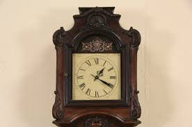 sold country french long case oak 1880 antique grandfather clock