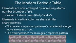 who developed modern periodic table organizing the elements ppt download