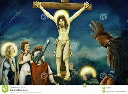 crucifixion of jesus digital painting royalty free stock image