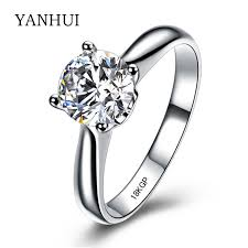 aliexpress buy anniversary 18k white gold filled 4 yanhui wedding rings white gold filled jewelry rings for women 2