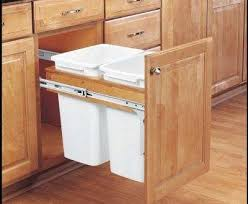 trash cans for kitchen cabinets pull out cabinet trash can 50 quart in cabinet trash cans intended