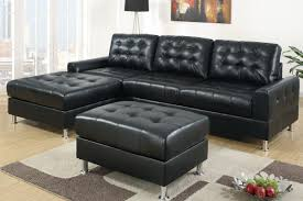 Modern Black Leather Sofas Sectional Leather Sofa Stunning Home Design