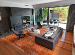 home design white ceiling and wood floors also glass wall in