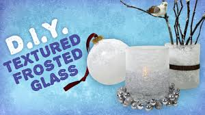 diy textured frosted glass winter decorations