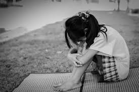 images of sad girl black and white sad girl sitting outdoor stock photo image of park