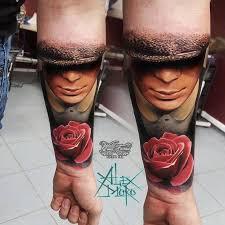 man and rose tattoo u2013 sanek tattoo u2013 pain magazine