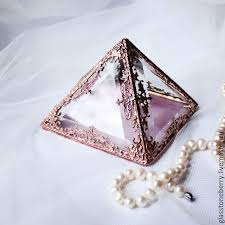 box rings images Copper pyramid glass box for wedding rings jewelry box shop jpg