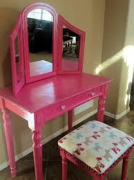Childrens Play Vanity Bedroom Little Girls Vanity Pink Vanity Table Childs Vanity