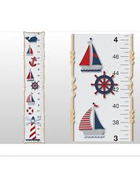 Ocean Wall Decals For Nursery by Nautical Growth Chart For Children Boys Decorative Wall Height